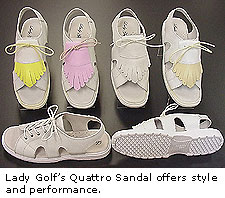 The Lady Golf Quattro Sandal